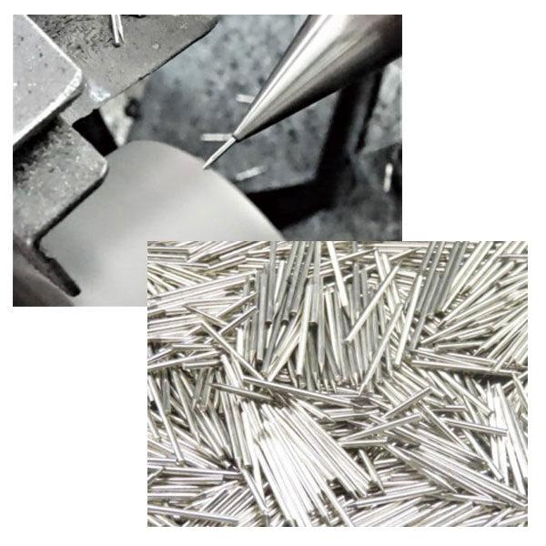 マイナスイオン発生用の放電針や電気部品の集電棒などの電気弱電部品を製造のイメージ画像