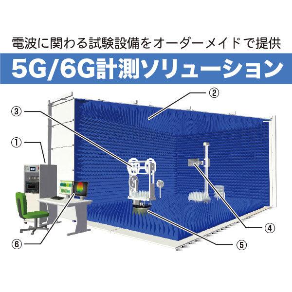 電波に関わる試験設備をオーダーメイドで提供「5G/6G計測ソリューション」のイメージ画像